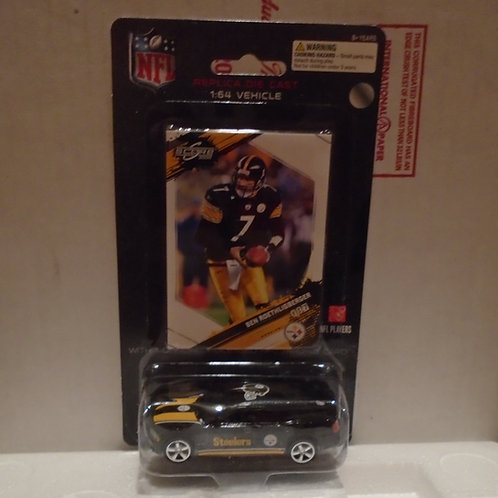 2009 Pittsburgh Steelers Dodge Charger w/Ben Roethlisberger Card