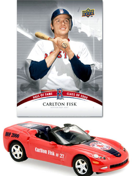 2008 Boston Red Sox Chevrolet Corvette HOF w/ Carlton Fisk Card