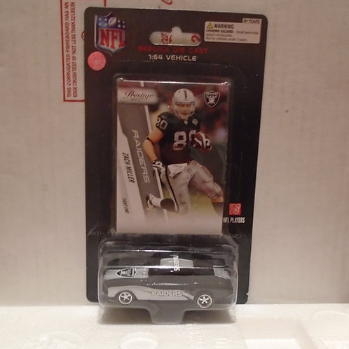 2010 Oakland Raiders Ford Mustang w/Zach Miller Card