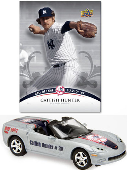 2008 New York Yankees Chevrolet Corvette w/ Catfish Hunter Card