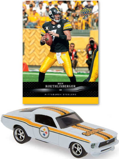 2008 Pittsburgh Steelers Ford Mustang w/Ben Roethlisberger Card