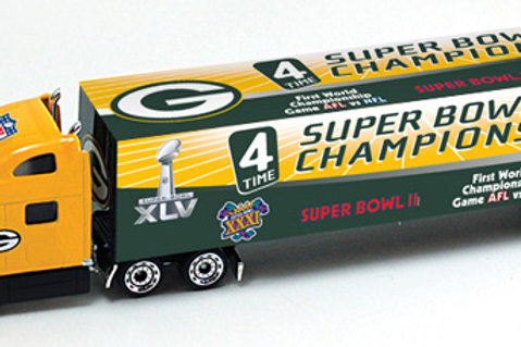 2011 Green Bay Packers 4x Super Bowl Champions Tractor Trailer