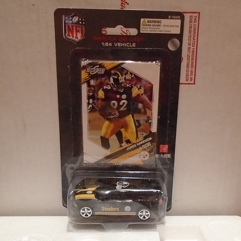 2009 Pittsburgh Steelers Dodge Charger w/James Harrison Card