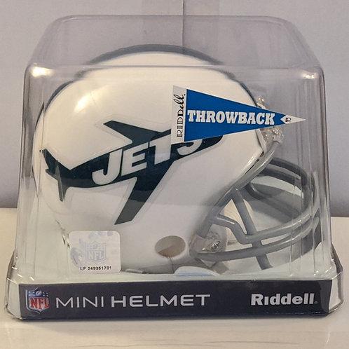 2010 New York Jets Throwback (1963) Riddell Mini Helmet