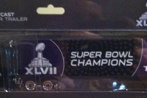 2013 Baltimore Ravens Super Bowl XLVII (47) Tractor Trailer