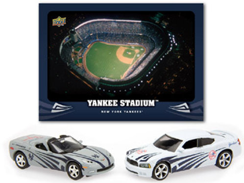2008 New York Yankees Dodge Charger and Chevrolet Corvette w/Card