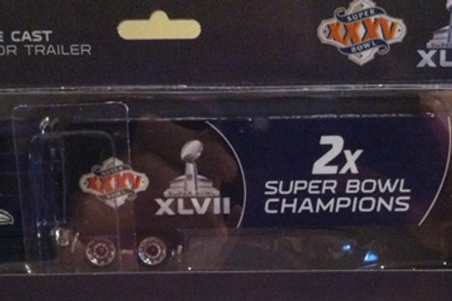 2013 Baltimore Ravens 2X Super Bowl Champions Tractor Trailer