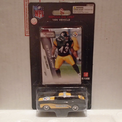 2010 Pittsburgh Steelers Ford Mustang w/Troy Polamalu Card