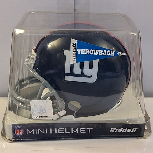 2010 New York Giants Throwback (61-74) Riddell Mini Helmet