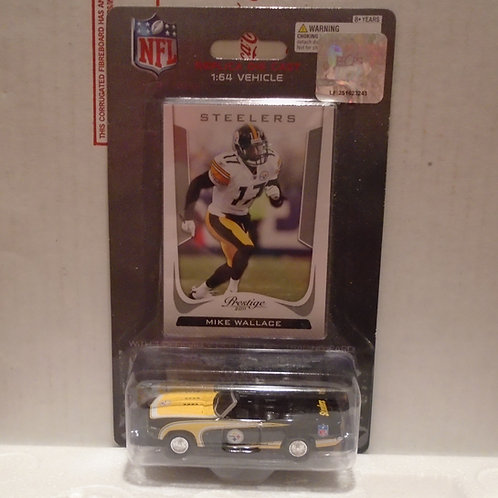 2011 Pittsburgh Steelers Chevrolet Camaro w/Mike Wallace Card