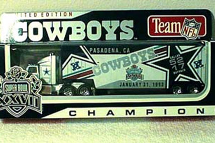1993 Dallas Cowboys Super Bowl XXVII (27) Tractor Trailer
