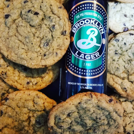 Brooklyn lager chip cookies