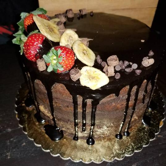 VEGAN banana cake