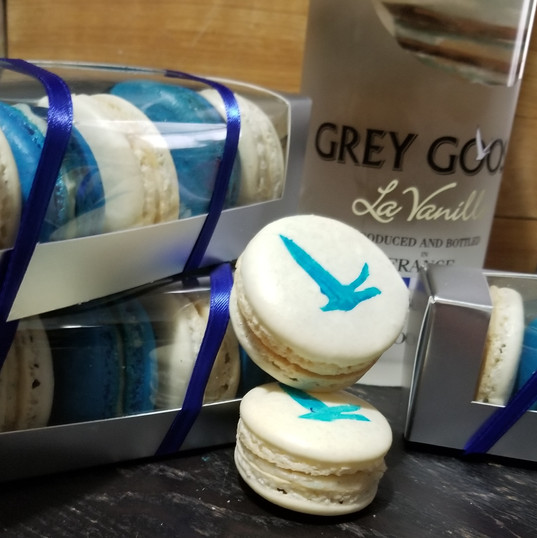 Grey Goose Vanilla macarons