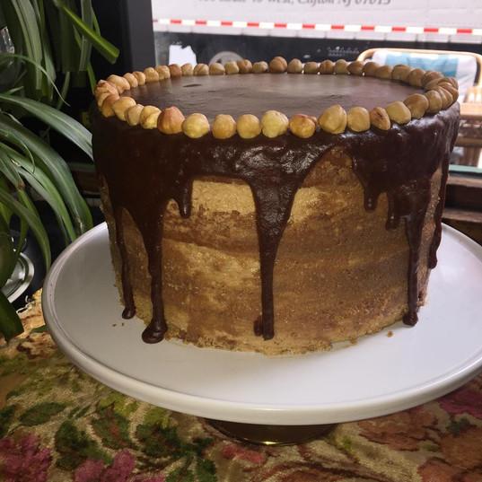 Coffee hazelnut cake