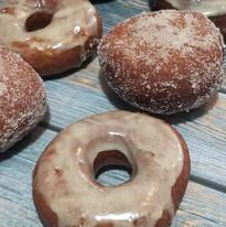 Coffee infused Jameson Brioche donuts