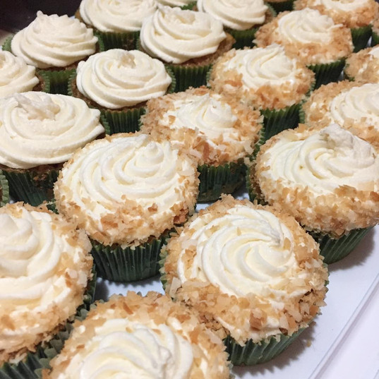 VEGAN/GF Carrot cake cupcakes