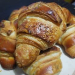 Basil butter croissants