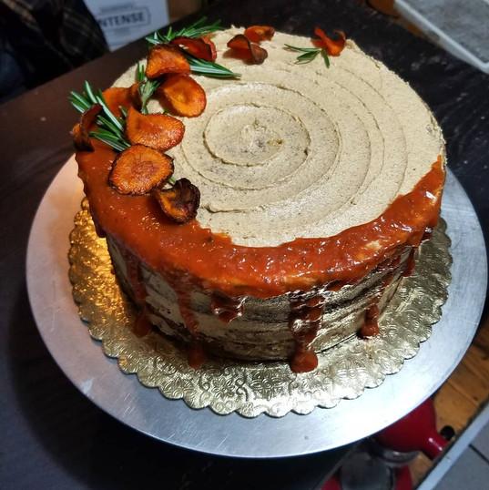 Vegan, GF, Sugar free Carrot cake