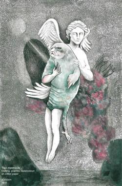 Two mermaids by Violeta Bravo