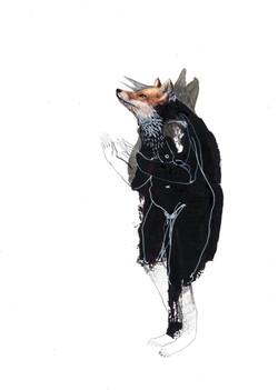 Fox lady by Violeta Bravo