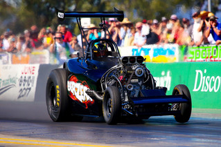 Hometown Aeroflow Nitro Hot Rods racing for fives in Sydney