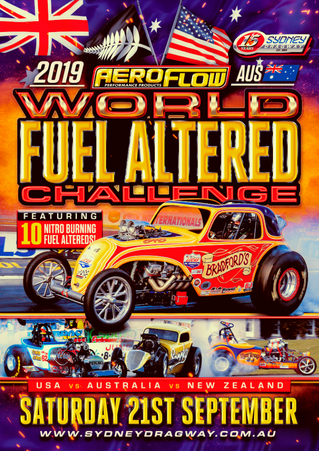 World Fuel Altered Challenge to ignite Sydney Dragway with Aeroflow Nitro Hot Rods taking on the res