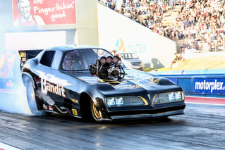 Father and Son nitro funny car family feud at Portland
