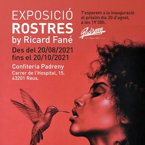 ROSTRES. Exposició de Ricard Fané a l'Espai Art de la Confiteria Padreny de Reus.