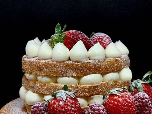 pastel personalizado de frutas rojas-pastís personalitzat de fruites vermelles-confitería padreny reus tarragona
