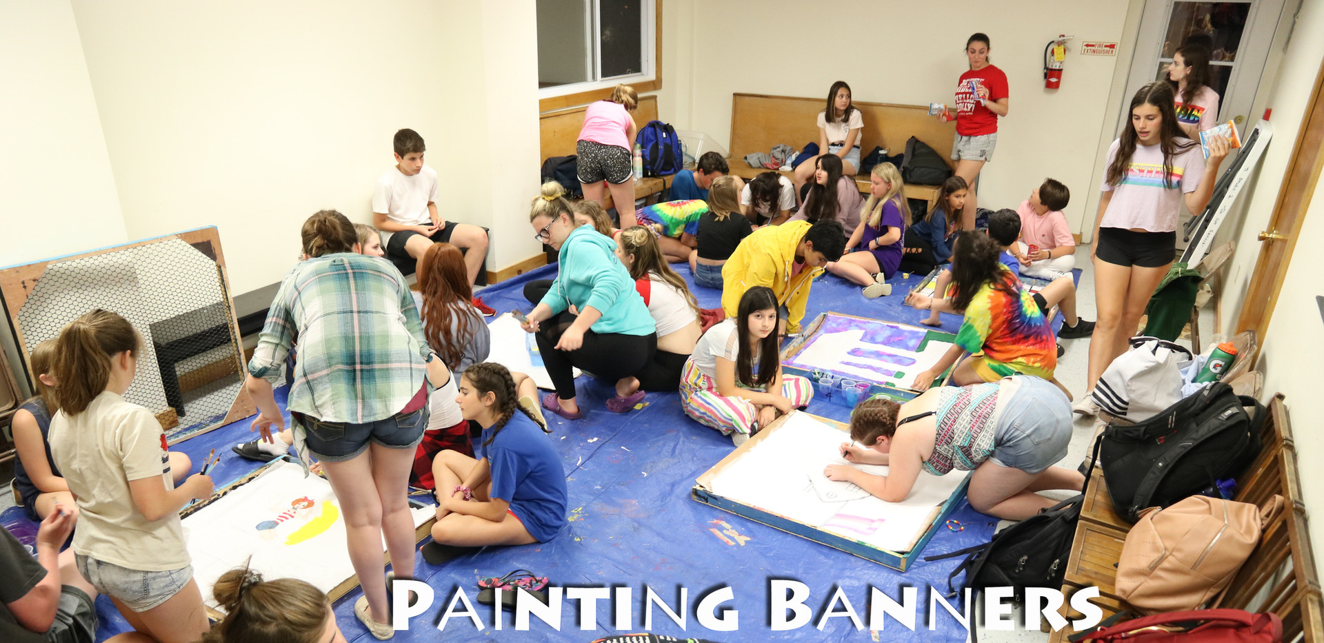 Painting banners