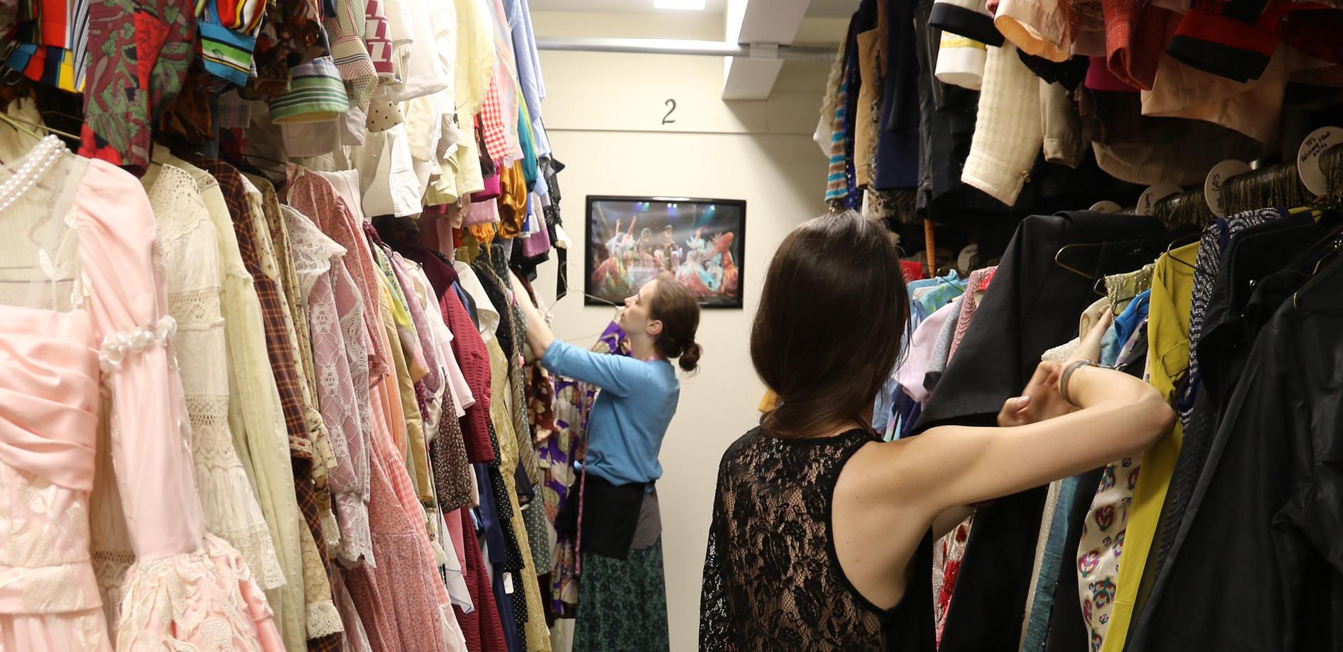 Costume shop storage