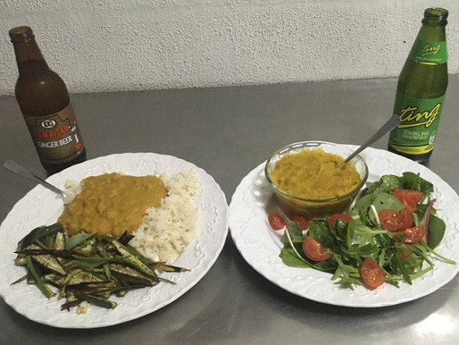 Vegan Jamaican Split Pea Curry