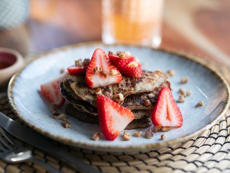 Flourless Banana Pancakes |  Hotcakes de Platano Sin Harina