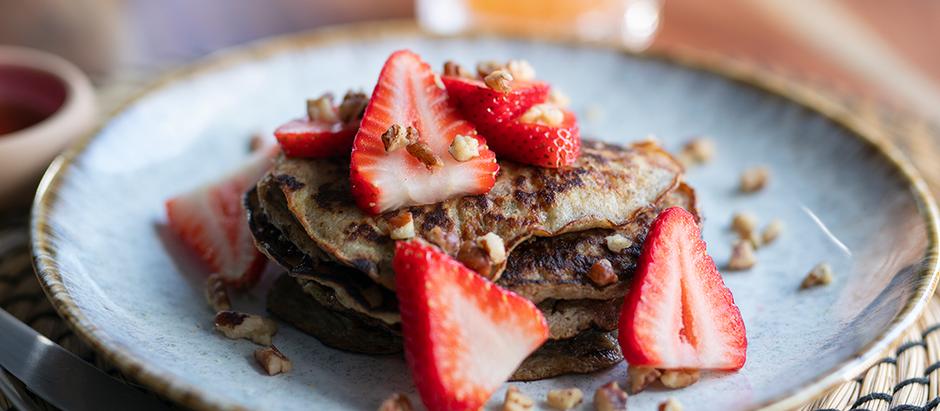 Flourless Banana Pancakes    Hotcakes de Platano Sin Harina
