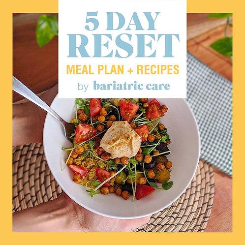 5 Day Bariatric Reset Diet Español
