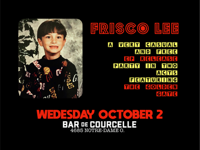 FRISCO LEE MUSIC releasing first EP on SEPT 29