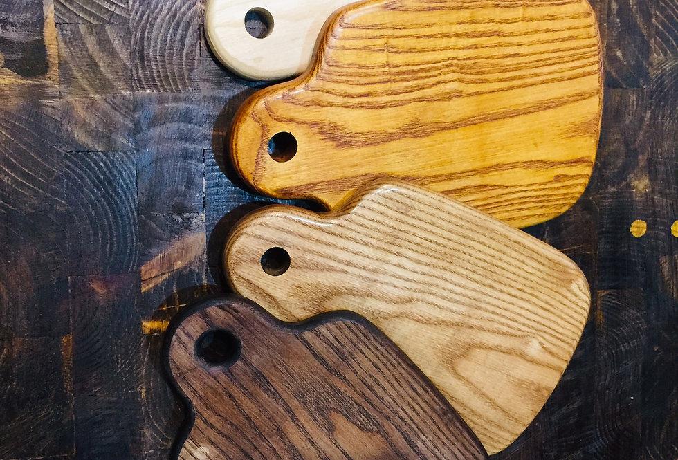 Thớt gỗ  dáng bầu khoét tròn