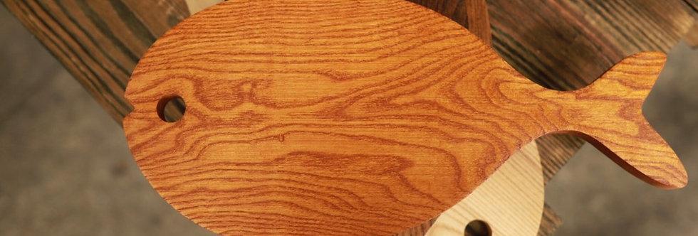 Thớt gỗ hình cá