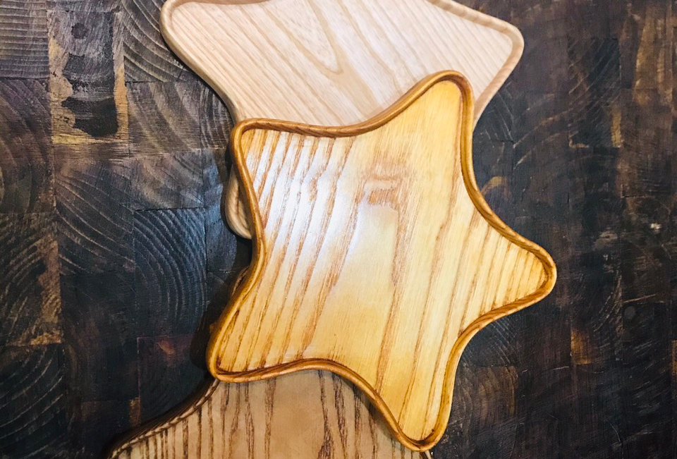 Khay gỗ hình sao