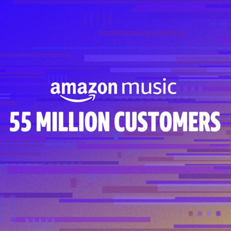 Amazon Music 55 million customers worldwide!