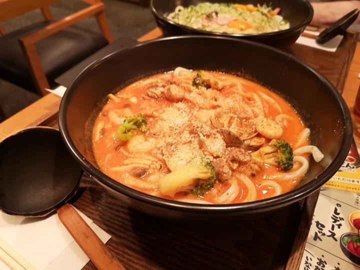 Seafood Tomato Cream udon