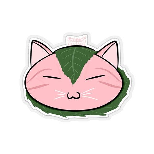Sakura Mochi Cat - Sticker