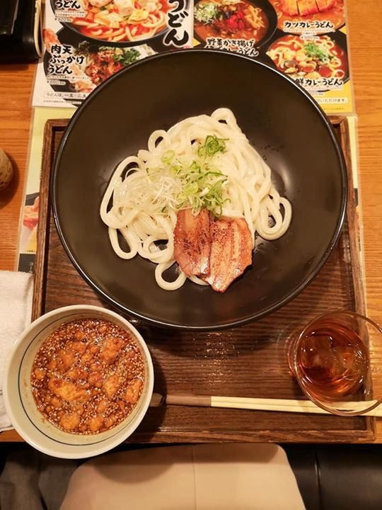 Tsukemen with soy sauce broth made with sea bream