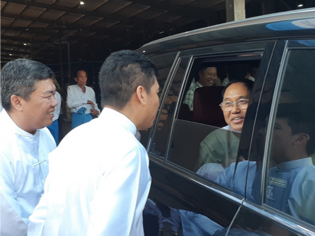 MYANMAR'S VICE-PRESIDENT VISIT TO OUR NEW FACTORY