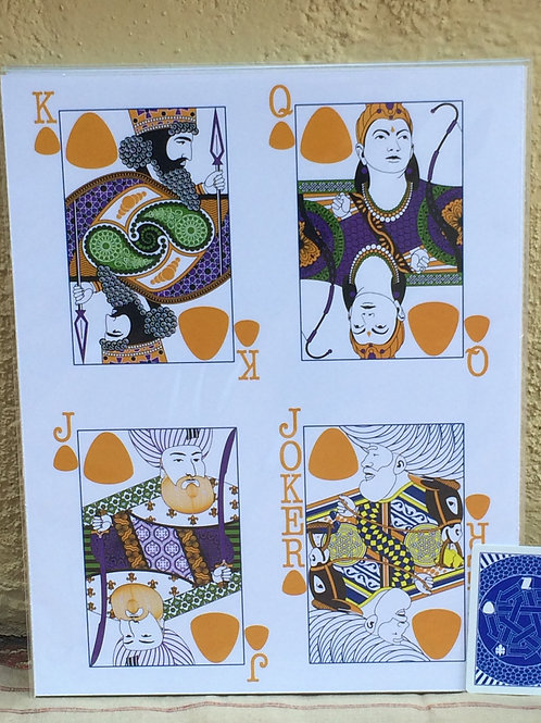 """11"""" x 14"""" Face Card Poster"""