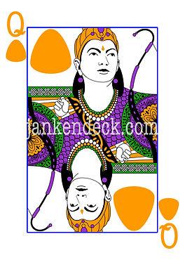Queen of Rock, Queen Rani Durgavati of India, Janken Deck