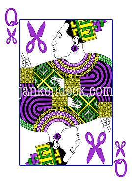 Queen of Scissors, Mayan Queen Tz'aakb'u Ahau (The Red Queen), Janken Deck