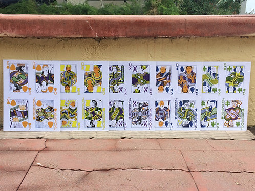 """All five 11"""" x 14"""" Face Card Posters"""