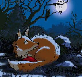 Fox & Red Mitten